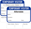 Personalized 1-Day Temporary Visitor Pass