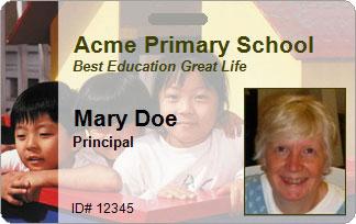 Education ID Card Sample