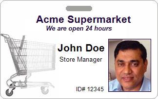 Retail ID Card Sample